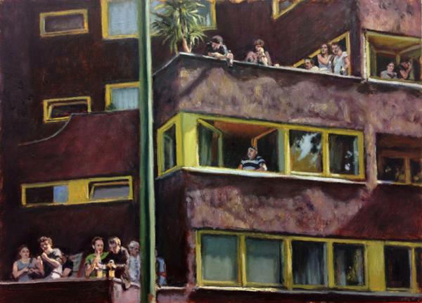 Schilderij Corner Yorkstrasse (2015)